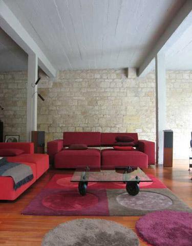 conseils d co couleur mur avec mur en pierre. Black Bedroom Furniture Sets. Home Design Ideas