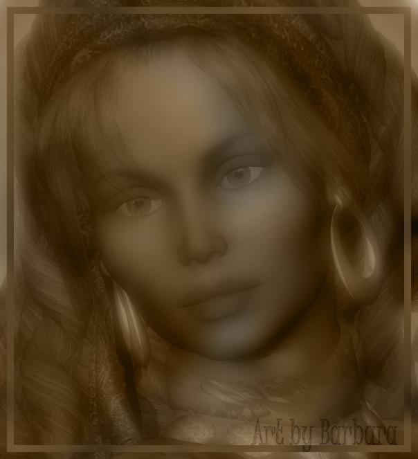 Portret of a gypsy