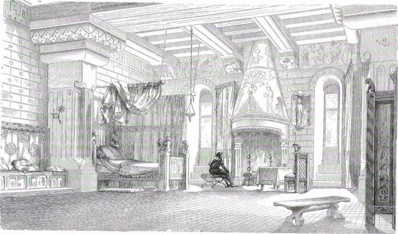 Chambre de seigneur vers le milieu du XIIe siècle
