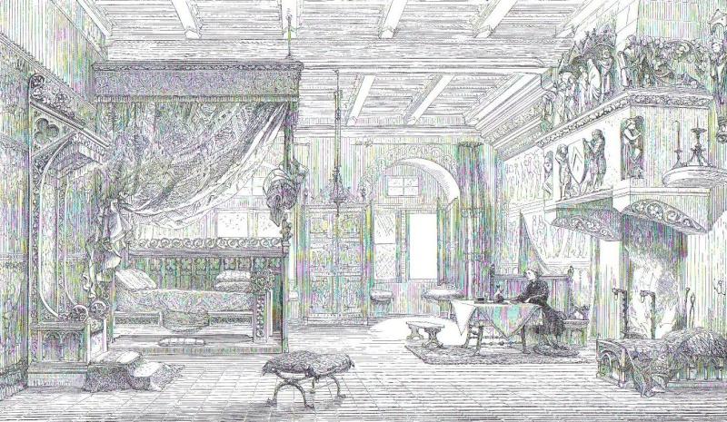 Chambre de château vers le milieu du XIIIe siècle