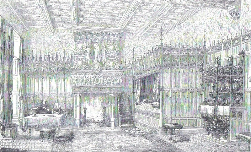 Chambre du commencement du XVe siècle