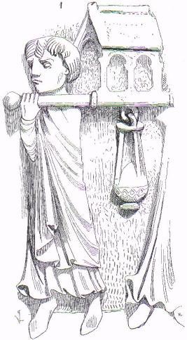 Sculpture de l'un des chapiteaux de la crypte de l'église de Saint-Denis en France