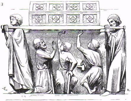 bas-reliefs du tympan de la porte méridionale de la cathédrale d'Amiens