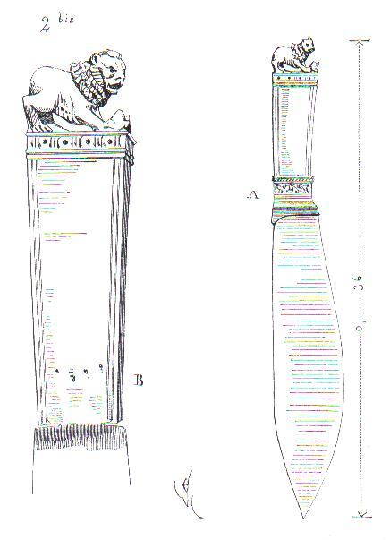 Couteau à trancher du commencement du XIVe siècle