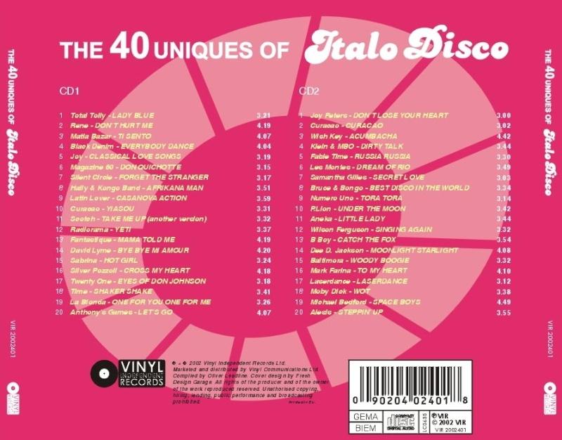 The 40 Uniques Of Italo Disco