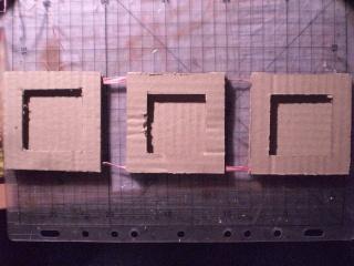 Fiche technique pour r aliser le cadre triple - Fabriquer cadre photo carton ...