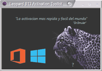 Dr.Emuler Leopard 813 Activation Toolkit – Activa Windows 8 y Office 2013 en 7/8