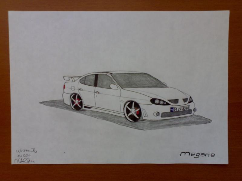 Çizim aşamaları ile çizim renaultlar megane1 sedan eklendi