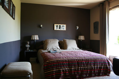 d co chambre mur marron. Black Bedroom Furniture Sets. Home Design Ideas