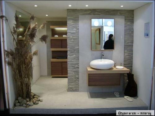 Une salle de bain zen for Decoration salle de bain zen