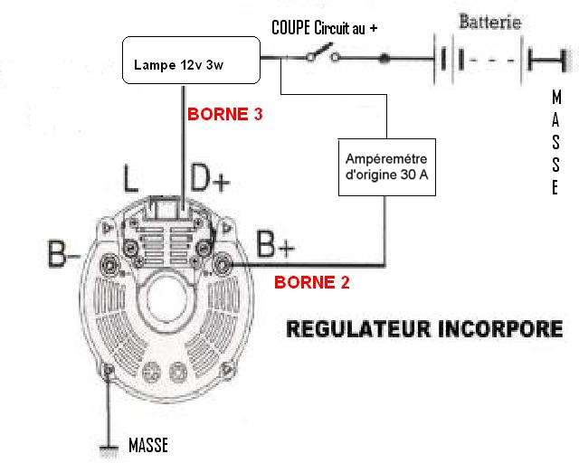 T2566p50 Faisceau Electrique Massey on bosch alternator