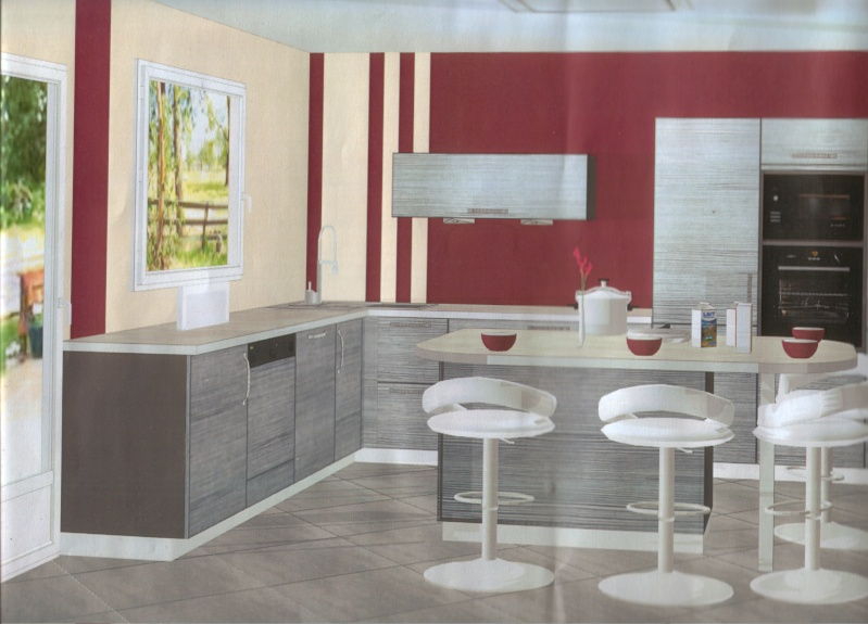 exceptional carrelage mural rouge cuisine 7 beautiful